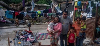 David Argueta and his family