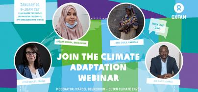 Banner for the climate adaptation webinar