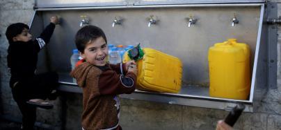 Water in Gaza. Photo: Eyad El Baba/Oxfam