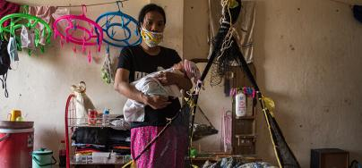 Tae Ma Thui, migrant worker in Thai shrimp industry
