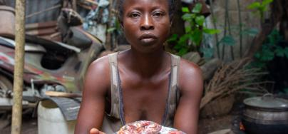 Florence and her husband both lost their jobs during the pandemic in Benin.