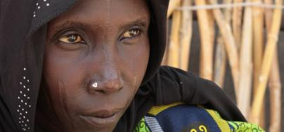 Achta, from Chad, had to flee, following attacks by armed groups. Now she lives in a site for internally displaced people.