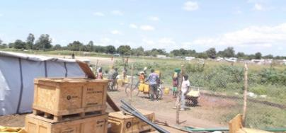 Oxfam sanitation supplies arrive in Juba, South Sudan