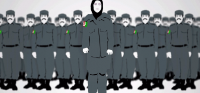 Screen copy from a video on police and Afghan women