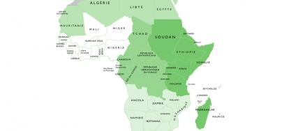 Map of the State members of the African Union