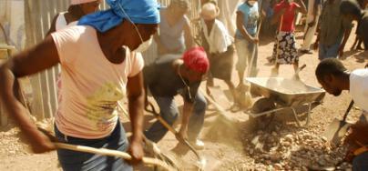 Cash-for-work program in Haiti, 2010.