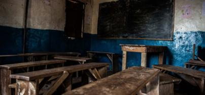 Empty primary school, Tengbeh Town