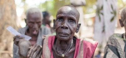 This woman arrived in Nyal, in Panyijar County, South Sudan, to register for a food distribution. Emergency hunger levels hav e been  declared in the county. Photo:Bruno Bierrenbach Feder/Oxfam