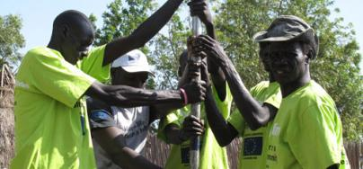 South Sudan - Oxfam engineers fixing boreholes and pumps. Photo: Caroline Gluck/Oxfam
