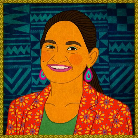 Illustration of Betty Barkha