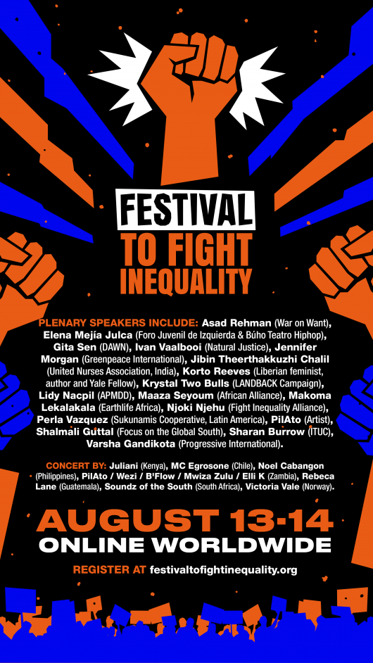 Festival to Fight Inequality poster