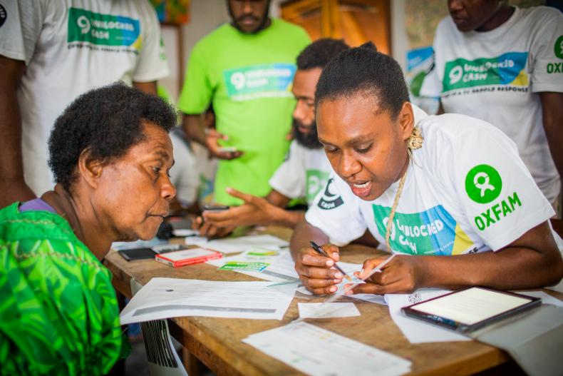 Oxfam in Vanuatu is scaling its UnBlocked Cash project to distribute cash and voucher assistance to the most affected by Cyclone Harold and COVID-19.
