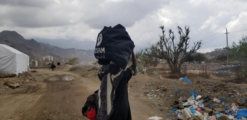 Hygiene kits distribution in Taiz, Yemen
