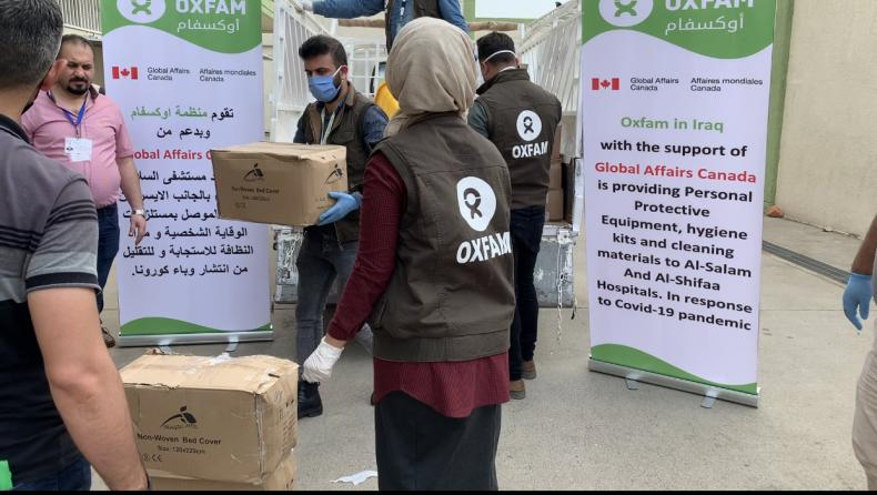 Oxfam in Iraq is providing supporting protective equipments and hygiene kits to the Al-Salam and Al-Shifa hospitals, Iraq.