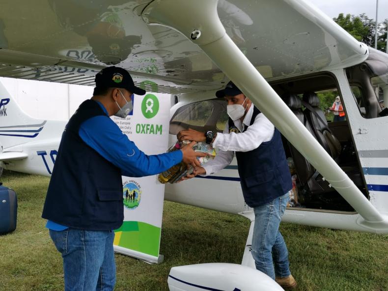 Oxfam's response to hurricane ETA, Guatemala.