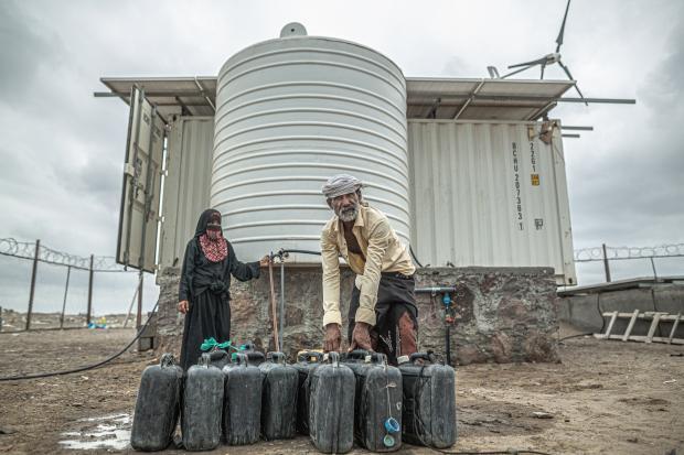 Desalination unit in Yemen