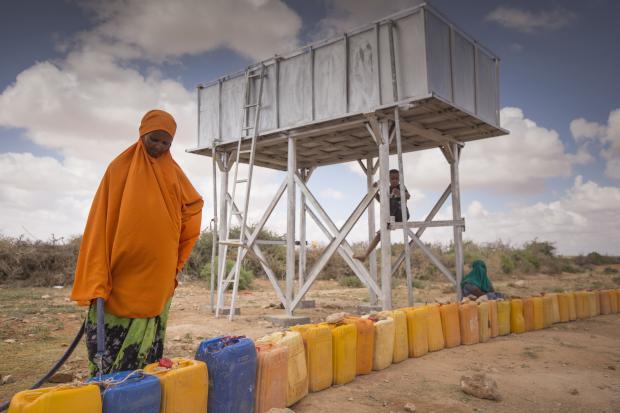 Desalination unit in Somalia