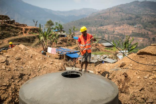 Gravity water supply system in Nepal