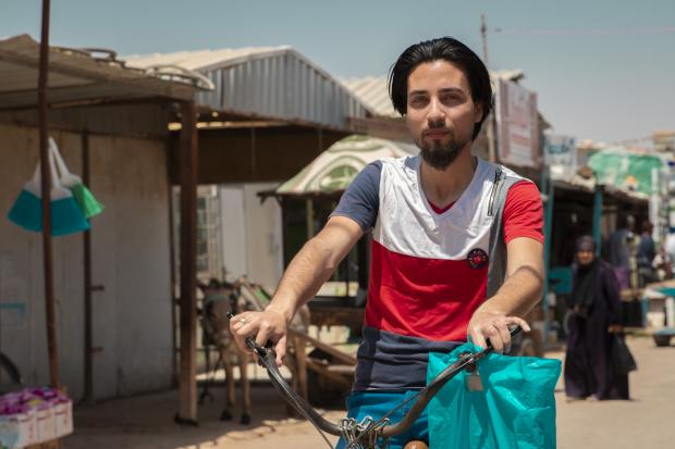 Ahmad, 22, is a young man from southern Syria. He fled to Jordan's Za'atari camp when he was just 15 years old.